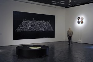 Installed at Baltic alongside wall drawing